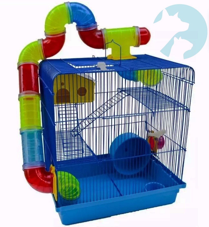 Desenhar Casas Casa Gaiola Hamster 3 Andares Tubo Luxo Jel Plast R 154