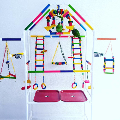 casa,gim pvc, parque,centro juego,juguetes loros