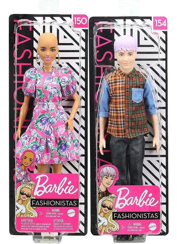 casal 2 barbie ken fashionistas 150 negra careca 154 kpop