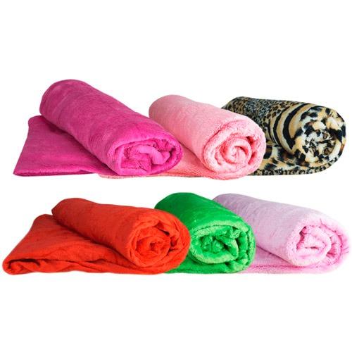 Kit 10 cobertor manta casal microfibra queen cama sortido for Cobertor cama