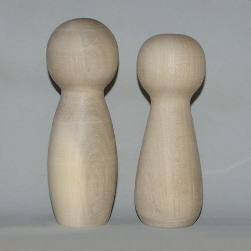 casal de noivinhos com 14 cm em madeira crú cód. 31-32