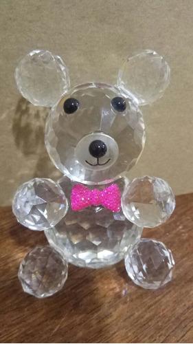 casal de urso ursinho de cristal de vidro enfeite decoração