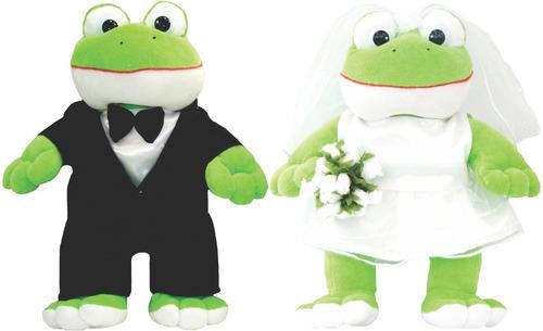 casal sapo noivo e noiva pelúcia p/ buquê #tamanho ideal#