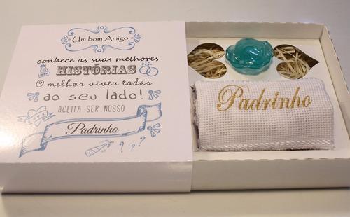 casamento convite 24cxs padrinhos história toalha e sabonete
