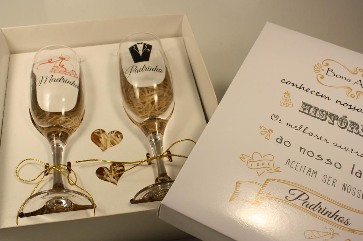 a300b9b05 casamento convite padrinhos histórias com 2 taças vidro 2 un. Carregando  zoom.
