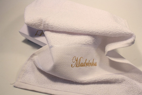 casamento convite padrinhos o sim com 2 toalhas 2 unidades