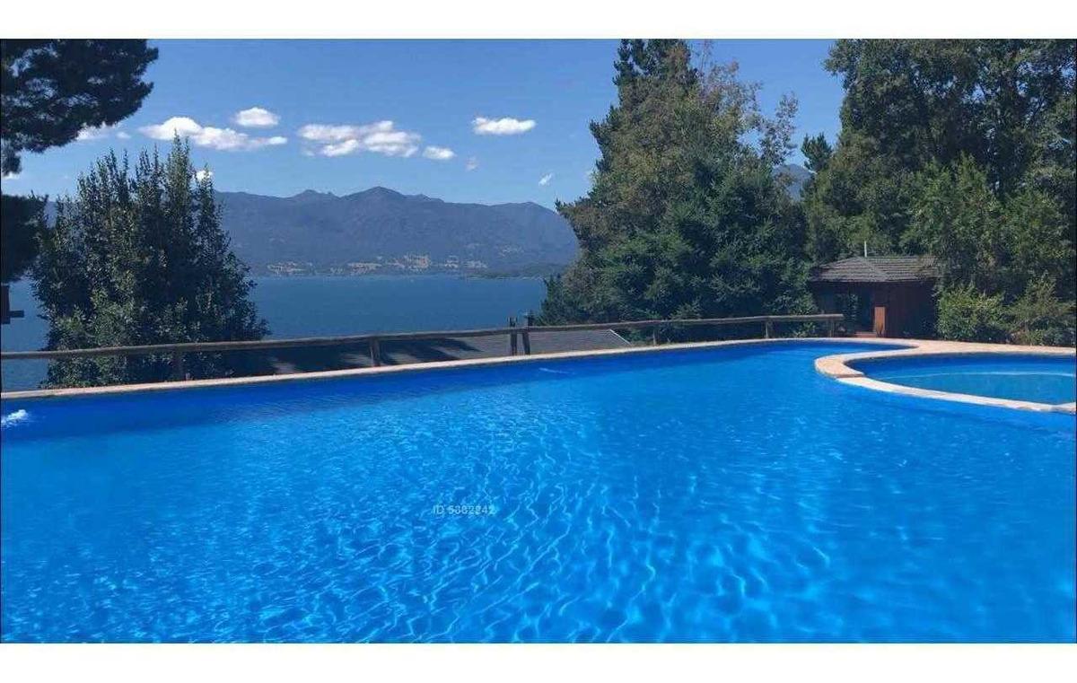 casas 4 a 8 pers, vista lago, piscina, 5 min centro