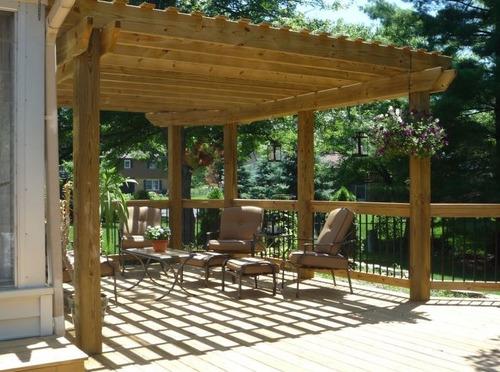 casas cabañas en madera construccion decks carpintero piria