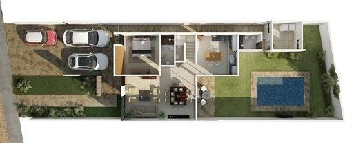 casas con amenidades albarella residencial mod. g