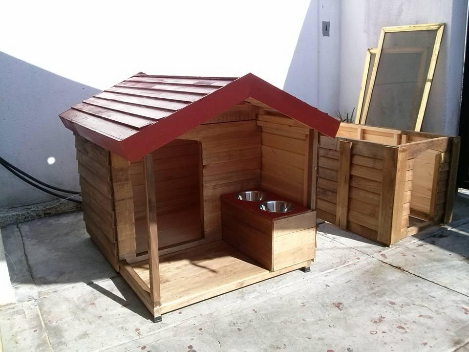 Casas de madera para mascota pet house xtragdecon - Casas para perros con palets ...