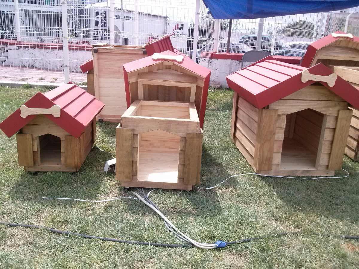 Casas de madera para perro pet house 50 x 70 x 70 - Madera para casas ...