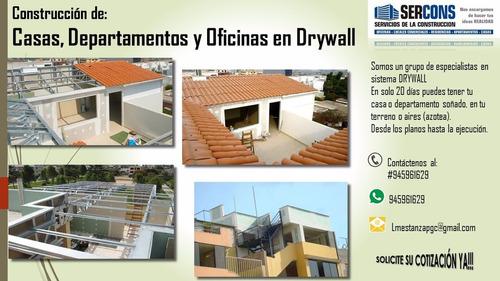 casas, departamentos en sistema drywall  945961629