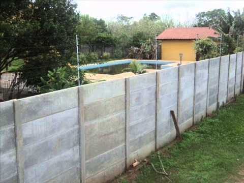 casas e muros pre-moldados