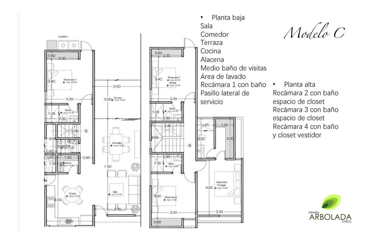 casas en cholul en venta de 4 habitaciones