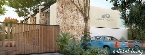casas en privada con roofgarden y piscina en aldea dzitya