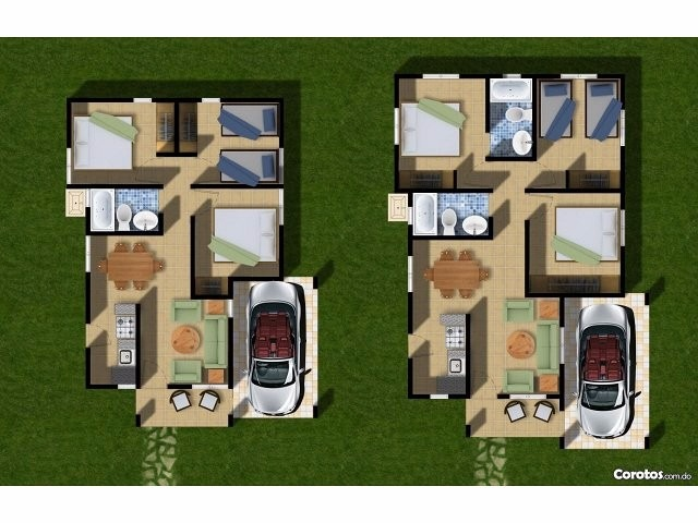 casas en residencial cerrado.