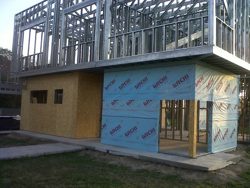 casas en steel framing / steel frame emmedue easybrick eifs