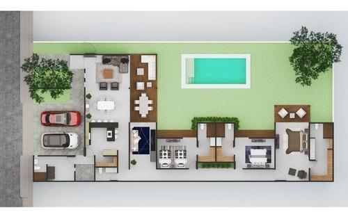 casas en venta de una planta con 3 recámaras modelo 5 en dzityá, mérida