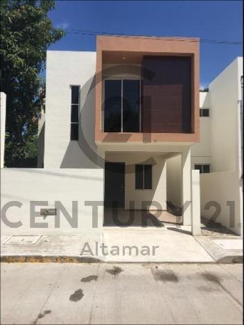 casas estilo moderno en venta, col. niños héroes, tampico, tamaulipas.