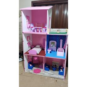 Casas Para Barbie Tres Pisos Todo Madera