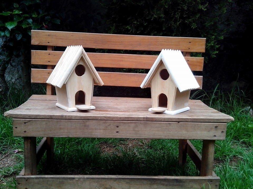 Casas para pajaros de madera al natural en - Casita para pajaros ...