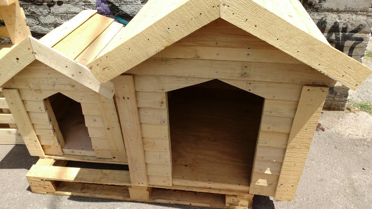 Casas para perro con madera reciclada paletsmx com madera - Casa perros madera ...