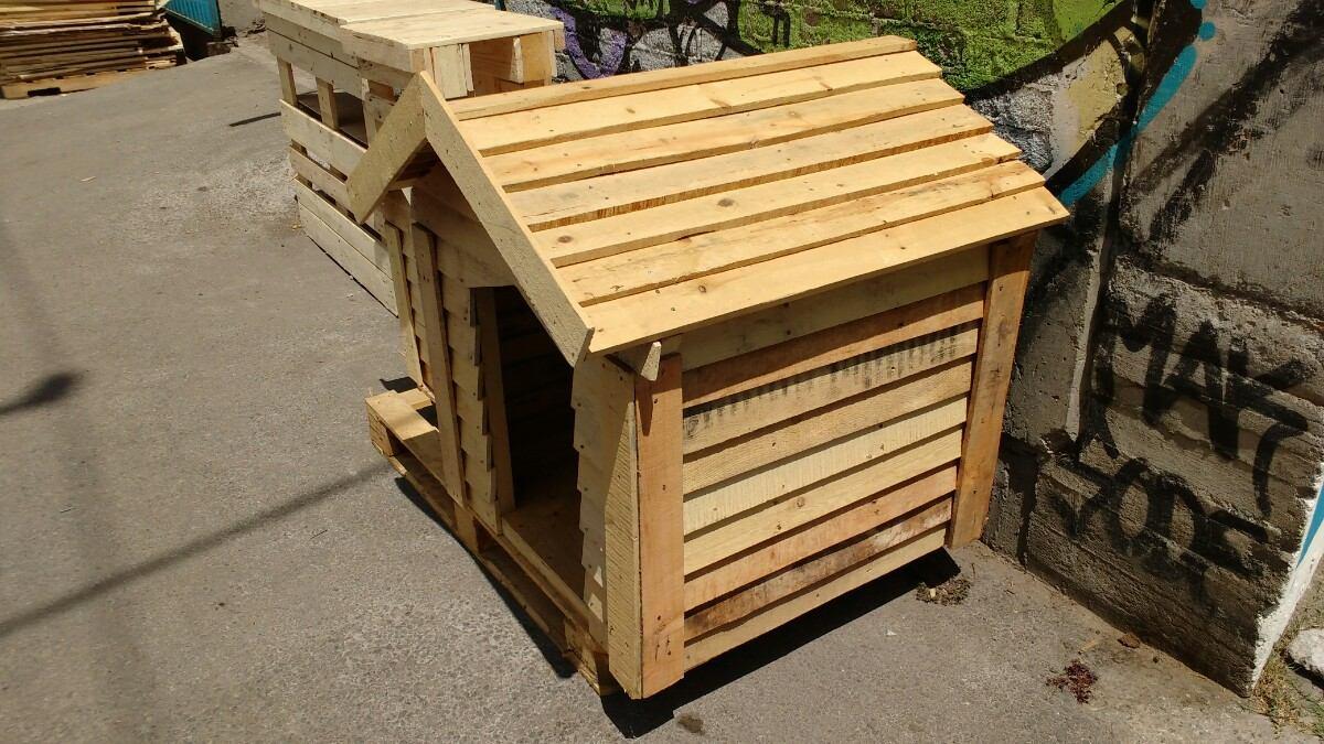 Casas para perro con madera reciclada paletsmx com madera - Casas para perros con palets ...