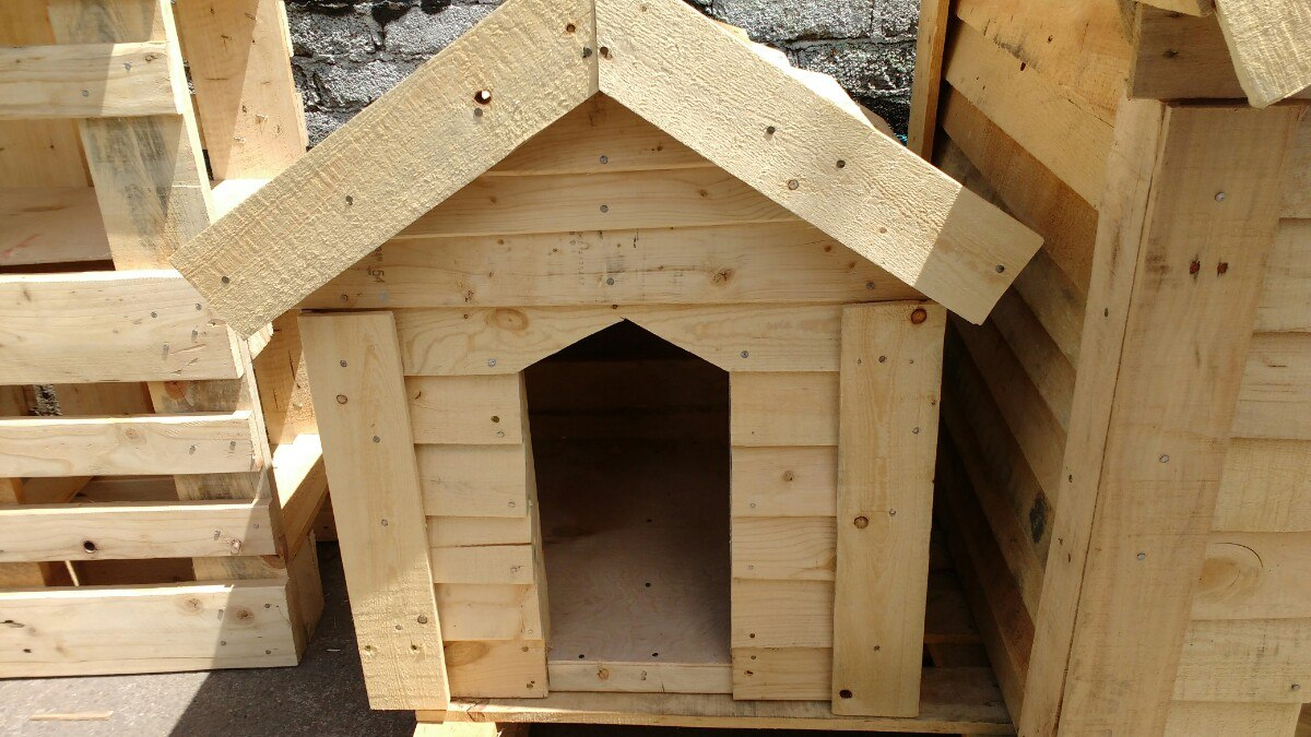 Casas para perro con madera reciclada paletsmx com madera - Casa de perro con palets ...