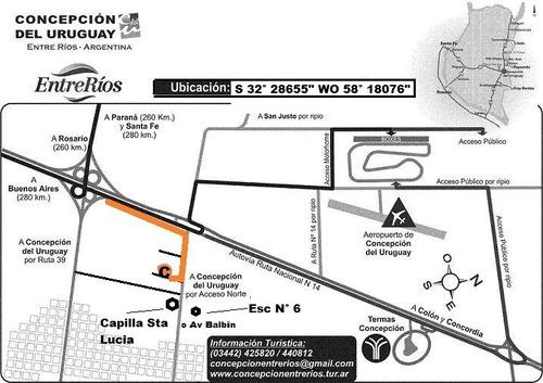 casas para turistas en concepción del uruguay entre rios
