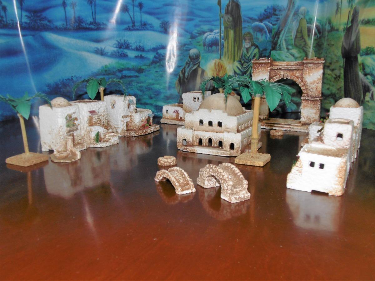 01d30709cdd Casas pesebre portada templo accesorios artesanales cargando zoom jpg  1200x900 Casitas templo pesebres de navidad grandes