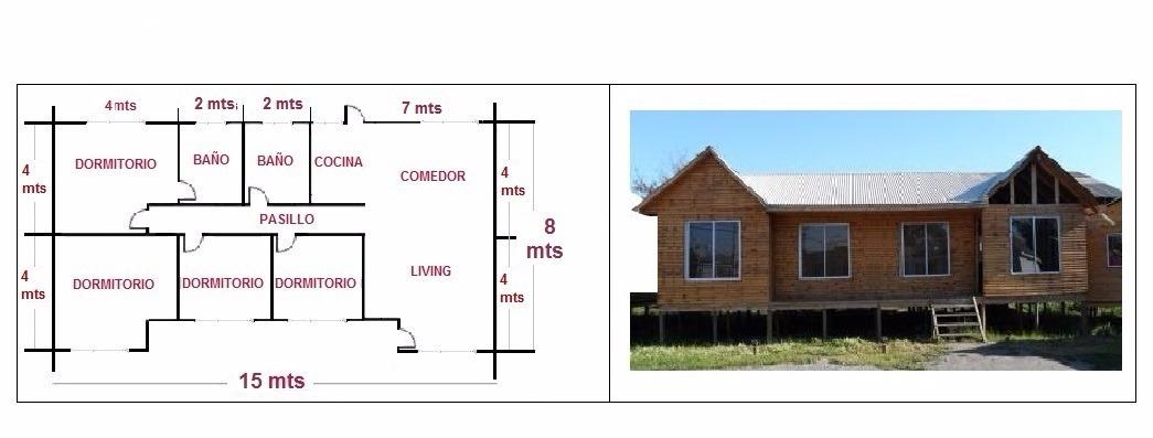 Casas prefabricadas kit b sico 120 m2 modelo 6 aguas en mercado libre - Precio proyecto casa 120 m2 ...