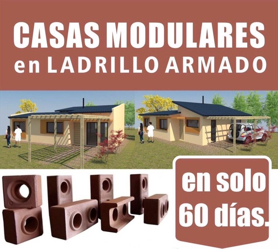 Casas prefabricadas ladrillo modular ecoblock llave en for Casas llave en mano