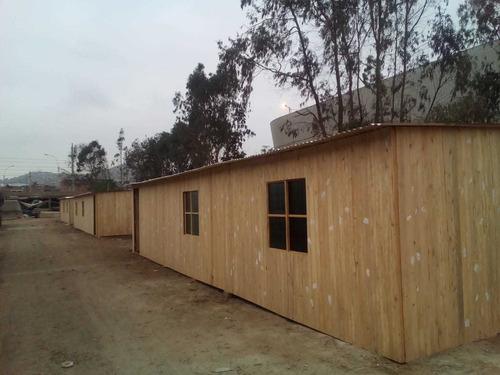casas prefabricadas madera y drywall, cabañas, techos, pisos