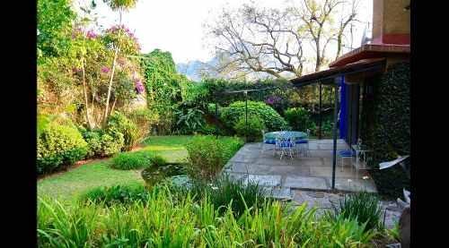 casas tepoztlán - bienes raíces - casa con estanque de koi