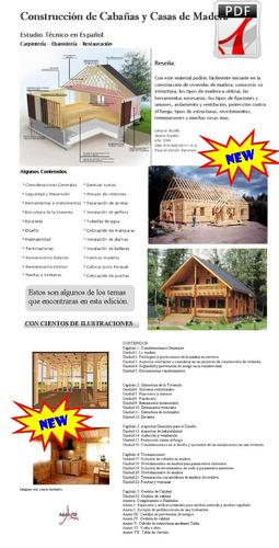 casas y cabañas de madera planos y detalles constructivos