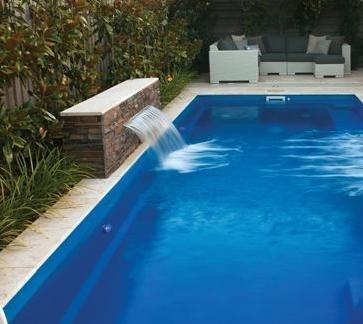 Cascada 30 cm fuente para piscina de fibra de vidrio bs for Piscinas pequenas con cascadas