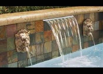 Cascada 60cm fuentepara piscina de fibra de vidrio y for Cascadas de piletas