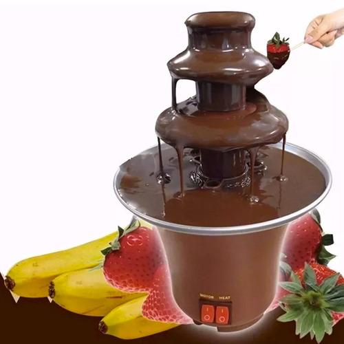 cascada chocolate 3 pisos fuente fondue quesos