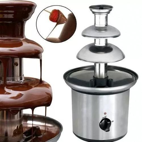 cascada chocolate 3 pisos fuente fondue quesos grande