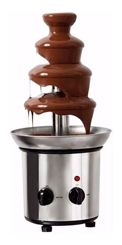 cascada fuente de chocolate 4 pisos profesional para eventos