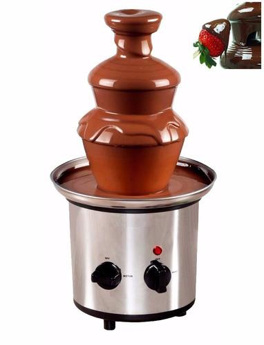 cascada fuente de chocolate fondue 4 niveles 40cm potenciada