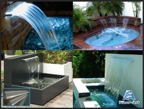 cascadas de rebose de 1 mts en fibra  para fuentes y piscina