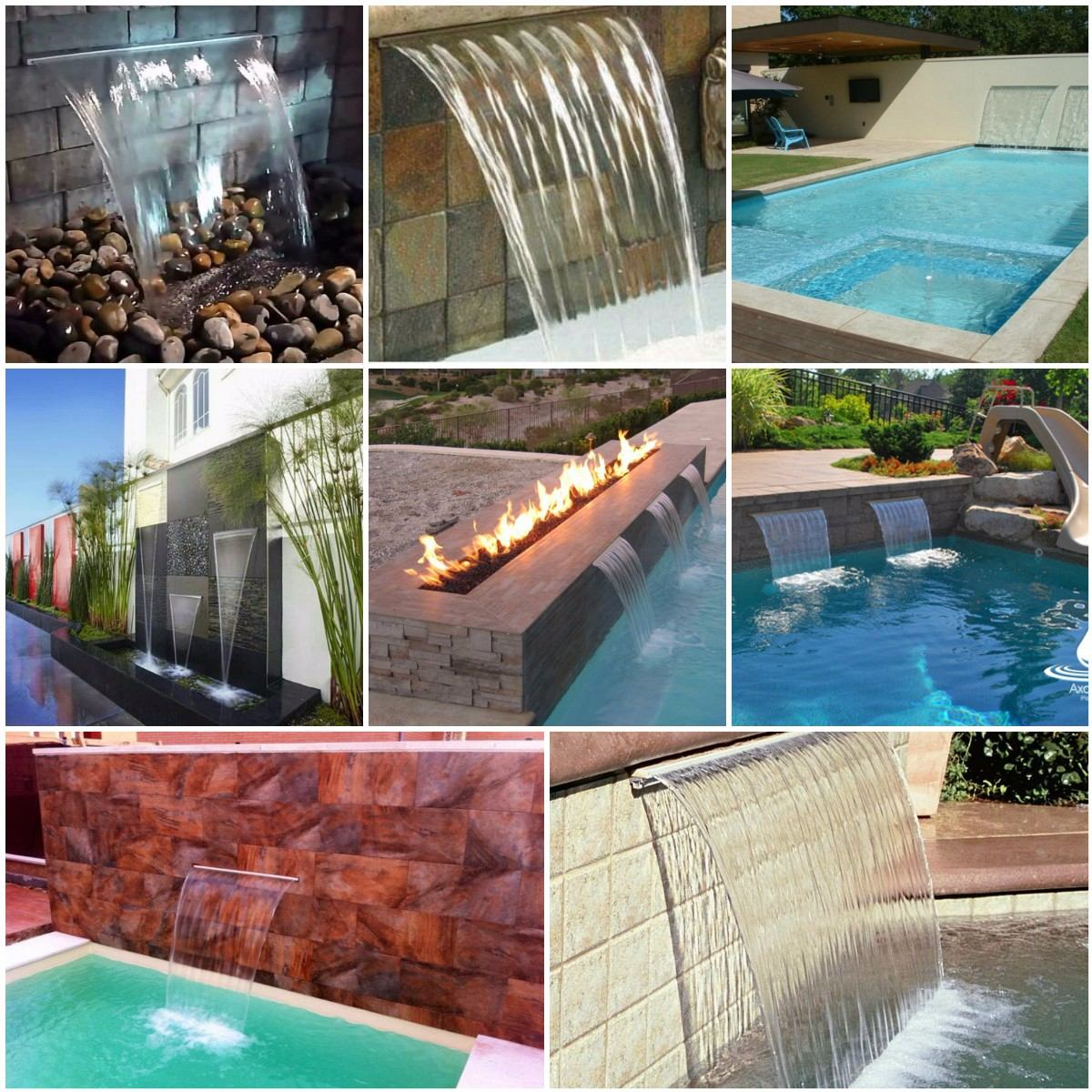 Cascadas decorativas para piscina fuentes jacuzzi jardin for Fuentes decorativas de pared