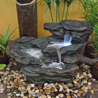 cascadas en fibra de vidrio  personalizadas