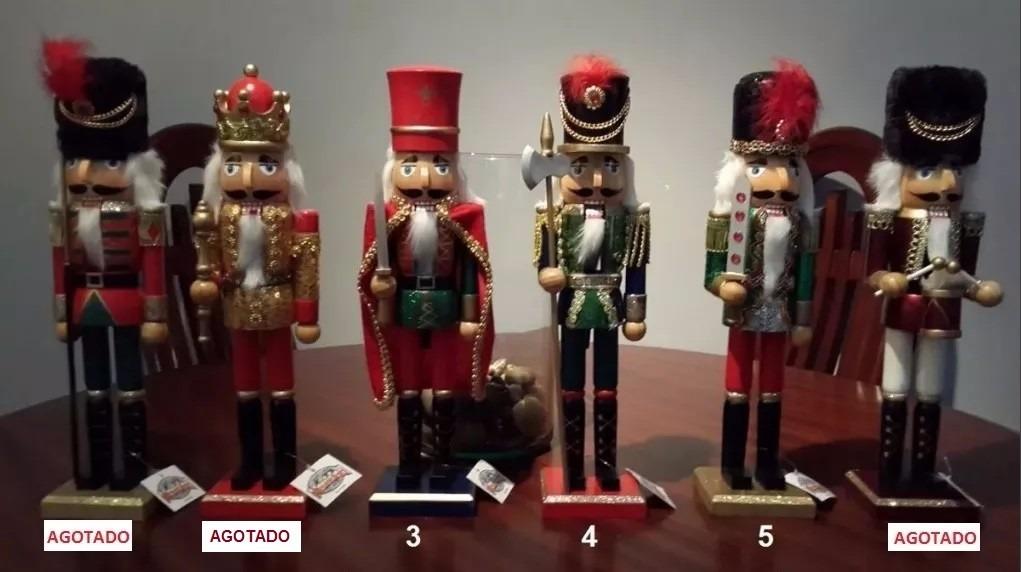 Cascanueces de madera para decoraci n de navidad 38cm - Cascanueces de madera ...