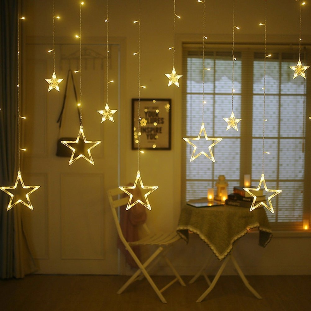 Cascata 138 Led Natal Estrela Lua Decora 231 227 O 8 Fun 231 245 Es Veja
