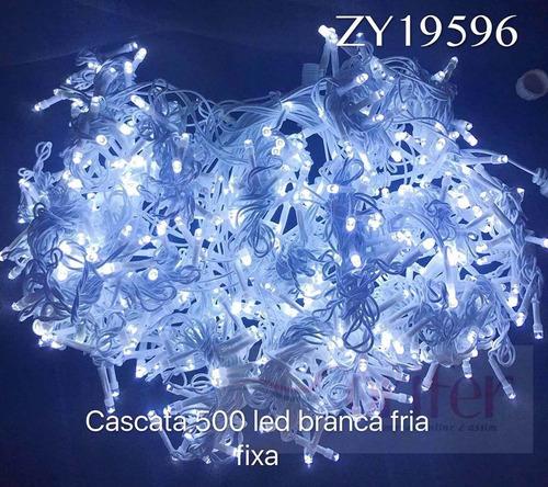 cascata natal 500 led branco frio fixo casamento 2,80x 2,50m