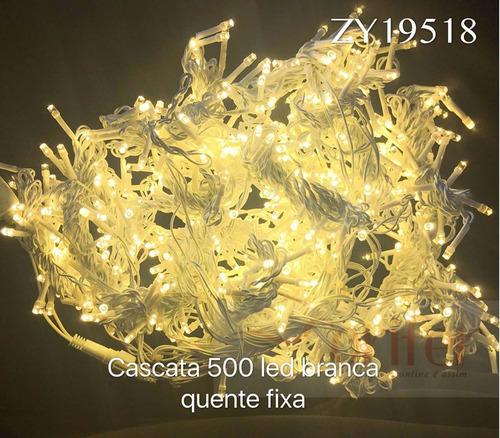 cascata natal 500 led branco quente fixo casamento 2,80x 2,5