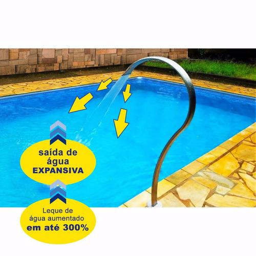 cascata para piscina aço