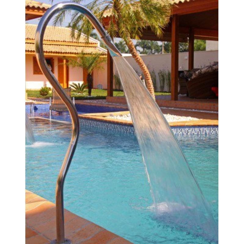 Cascata para piscina a o inox 304 modelo tubolar splash for Modelos de reposeras para piscinas
